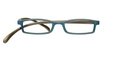 Brille von Klammeraffe, Modell 02 in petrol/brown