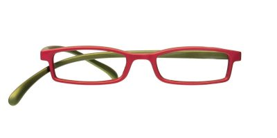 Klammeraffe Brille mit Lesestärke Modell 02 red/olive
